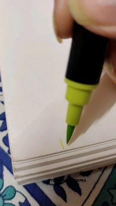 Art Painting Gallery, Diy Painting, Watercolor Paintings, Brush Pen Art, Doodle Art Designs, Tips & Tricks, Cool Art Drawings, Diy Canvas Art, Diy Art