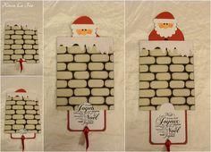 Carte Père Noël dans la cheminée 1