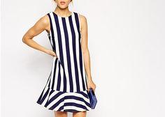 Women's Dresses,Cheap Fashion Dresses Online - Page 89 60 Fashion, Fashion News, Fashion Dresses, Cheap Fashion, African Fashion, Blue And White Dress, Striped Dress, Ruffle Dress, Striped Style