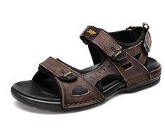 Camel mens genuine leather cowhide sandals