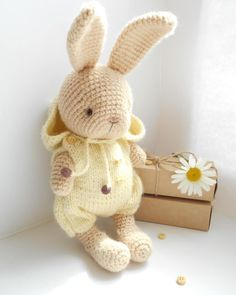 Best 11 This listing is an original pattern (written in English) to create your own cute Crochet Plush bears Brownie toys with a – SkillOfKing. Crochet Rabbit, Crochet Teddy, Easter Crochet, Cute Crochet, Amigurumi Toys, Crochet Patterns Amigurumi, Crochet Dolls, Knitted Bunnies, Stuffed Animal Patterns