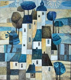 """bellasecretgarden: """" (via Pin by Montse Mazorriaga on Cases imaginaries/ Imaginary houses Silk Painting, Painting & Drawing, Watercolor Paintings, Watercolor Artists, Matte Painting, Watercolour, Illustration Art, Illustrations, Naive Art"""