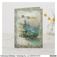 Shop Christmas Holidays - Greeting Card created by GRAPHICSITE. Christmas Holidays, Christmas Cards, Christmas Stuff, Holiday Greeting Cards, Vintage Holiday, Cool Diy, Unique Gifts, Prints, Winter Style