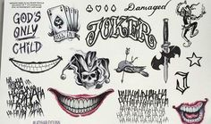 Suicide Squad The Joker tattoos