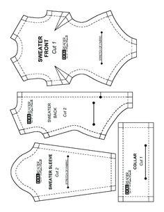 Doll Reader pattern - Turtleneck sweater bodysuit