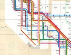 The Scout: Photo: Massimo Vignelli Details from the New York subway map from 1972 Nyc Subway Map, New York Subway, Massimo Vignelli, Metro Map, Tourist Map, Maputo, London Underground, Design System, Color Of Life