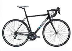 """Luxury Cinelli Experience Complete Road Bike (Airplane Aluminum Material) (Black Thunderdome) (53CM) (Extremely Lightweight). Sizes: 53cm. TUBE SET: COLUMBUS Airplane Triple Butted Alloy. FRAME WEIGHT: 1500 g size M. FORK: COLUMBUS Carbon/Alloy 1-1/8"""" - 1-1/2"""" Tapered. FORK WEIGHT: 560 g."""