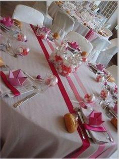 chemin de table ruban mariage
