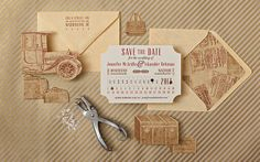 train theme wedding | Vintage Train Ticket Save the Date