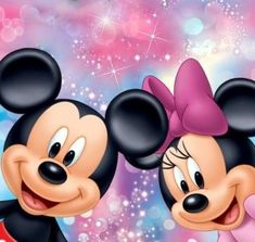 Cartoon diy diamond painting Mickey Minnie Mouse Full Square / Round Drill Diamond Embroidery Mosaic Home Decor.