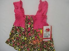 APPLE BOTTOMS BABY NEW BORN TOP PINK 100% COTTON SUMMER SLEEVELESS EVERYDAY LE #AppleBottoms #Everyday