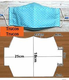 Sewing Hacks, Sewing Tutorials, Sewing Crafts, Sewing Projects, Easy Face Masks, Diy Face Mask, Mascara 3d, Mouth Mask Fashion, Creation Couture