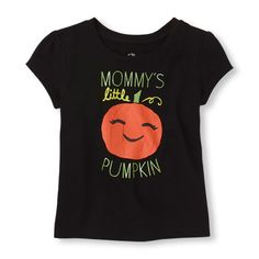 Short Sleeve 'Mommy's Little Pumpkin' Graphic Tee from The Children's Place | Spook-tacular styles for kids, toddlers and babies. Join in on the Halloween fun!