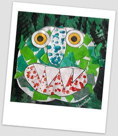 Le grand monstre vert Art Halloween, Bricolage Halloween, Big Green Monster, Social Emotional Activities, Art Lesson Plans, Ms Gs, Elementary Art, Hibiscus, Activities For Kids