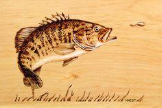 Pyrography fish | Small Mouth Bass Pyrography