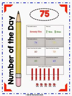 Classroom Freebies Too: K -5 Number of the Day