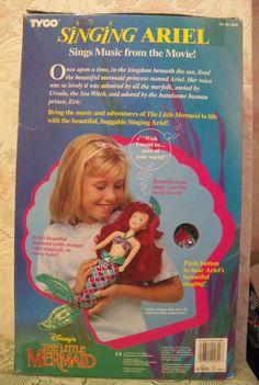 "Disney singing & colour change Ariel doll Tyco 18"" TALL 1991 | eBay"