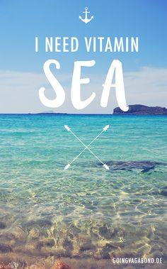 I NEED VITAMIN SEA. Photo taken at Crete, Greece. _________ Find more travel inspiration here: www.goingvagabond.de
