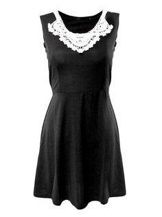 rings and tings, rings & tings, www.ringsandtings.com  FRONT FLORAL LACE DRESS BLACK