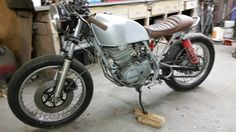 1978 Honda XL 350 , frame and motor, with 1978 gs1000, suspension and brakes, still under construction,