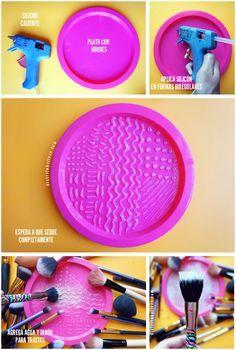 Limpieza de brochas para maquillaje DIY