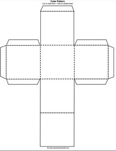 Printable 3d Cube Template Color It Cut It Out Fold It And Glue