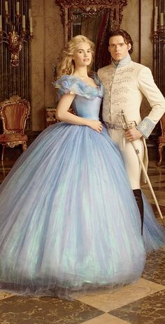 Cinderella: #Cinderella and Prince Charming, from the 2014 Disney movie. Costume Designer: Sandy Powell.