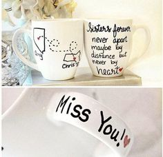 This personalized gift for your sister is unique hand painted sister stemless wine glass or mug makes a truly loving gift for your sisters, its unique because its hand painted wine glass that would make an amazing sister birthday gift that is truly handmade for your sister to
