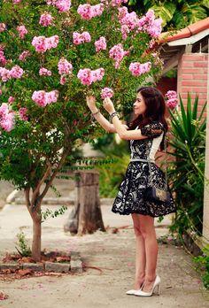 Blog da Lê-Moda e Estílo: Look - Vestido de Renda