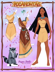 Pocahontas paper doll