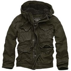 ABERCROMBIE & FITCH* Double Pocket Jacket, Olive