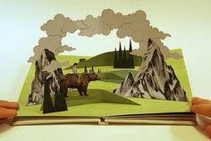 """Spagat: pop-up book= """"Las nubes por encima de la montaña..."""""""