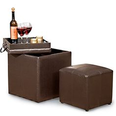 the franklin large rectangular storage ottoman bench in faux leather