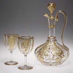 Wine Glasses and Decanter France, 1840-1870 The Metropolitan Museum of Art