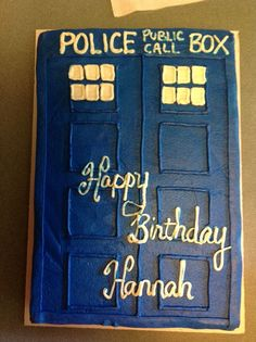 Dr Who Phone Booth Grooms Cake Yummy Things Pinterest Phone
