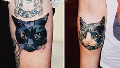 I USED TO BE SCARED OF CATS: Top 10 Cat Tattoos - cat faces