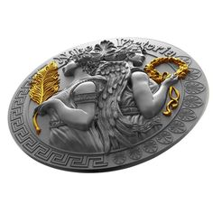 """Buy """"Victoria and Nike Goddesses Series"""" - 5 dollars silver coin - Niue Island 2 Oz. of fine silver. Canvas Wall Art Quotes, Custom Coins, Coin Design, Coin Art, Dog Bag, Antique Coins, Commemorative Coins, Challenge Coins, Coin Collecting"""