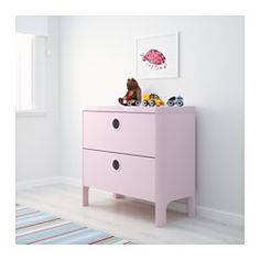 "BUSUNGE 2-drawer chest, light pink - 31 1/2x29 1/2 "" - IKEA"