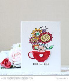 Springtime Blooms Stamp Set, Up in the Air Stamp Set and Die-namics, Tea Party Die-namics - Yoonsun Hur  #mftstamps