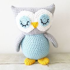 Crochet Owl Stuffed Animal Toy Newborn Baby Infant Toddler Nursery Decor…