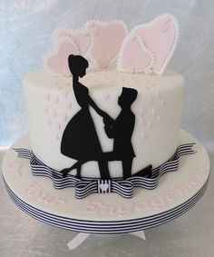 Just imagine the faces when you cut into this cake at an engagement party or bridal shower.