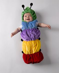 Just Pretend Multicolor Caterpillar Onesie (12M-18M) I want my neices and nephew to all have this <3