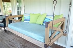 I love this porch swing bed! http://www.itsoverflowing.com/2015/07/gorgeous-beach-house/