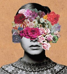 Creative Photos, Ste, Flower, Twiggy, and Collage image ideas & inspiration on Designspiration Collage Kunst, Art Du Collage, Flower Collage, Face Collage, Collage Portrait, Art Collages, Collage Drawing, Collage Photo, Collage Art Mixed Media
