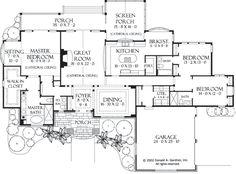 Floorplan The Sycamore Hall House Plan #5000