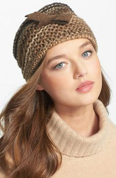 OMG...Adorable...must have. Tarnish Knit Hat available at #Nordstrom
