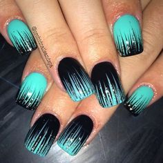 Image result for teal nails