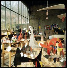 Alexander Calder studio Pinned by a Taste Setter: www.thetastesetters.com
