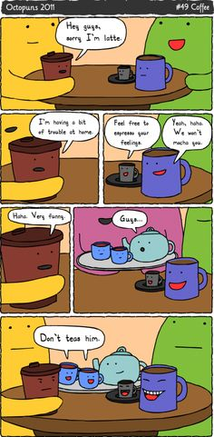 I love coffee. I love puns. They go well together too.