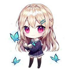 Cute Anime Chibi, Kawaii Chibi, Anime Girl Cute, Anime Neko, Kawaii Anime Girl, Girl Drawing Sketches, Anime Girl Drawings, Chibi Wallpaper, Cute Couple Wallpaper